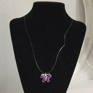 Jewelry - Dainty Purple Butterfly Necklace